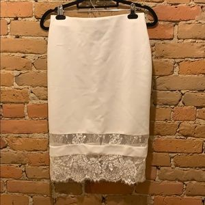 Skirt with lace detailing
